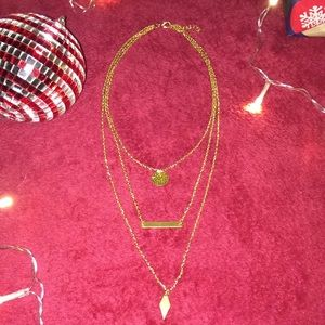 NWOT Layered Gold Necklace